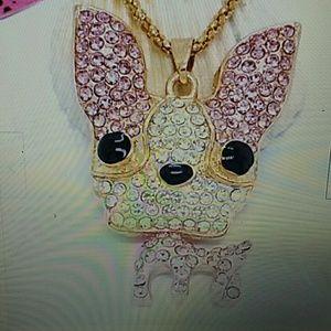Betsey Johnson Chihuahua necklace